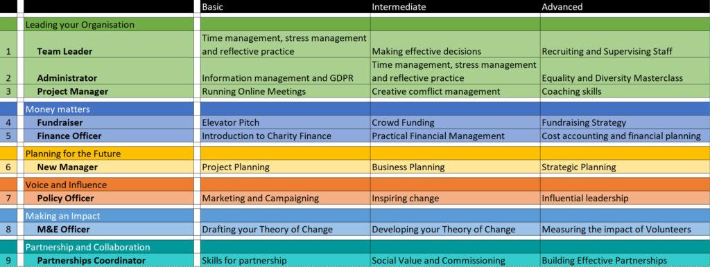 Professional development examples